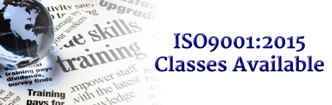 Classes for ISO 9001:2015 Now Available